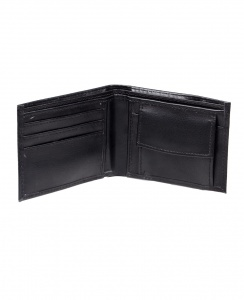 Uni Carress- 6 Card Slots Casual & Formal Black Artificial Leather Wallet For Men (Black)) UC-M-W-04