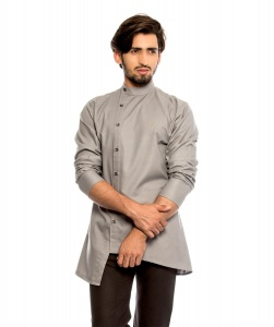 S9 Men Nawaabi Grey Colored Kurta