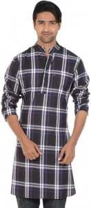 S9 MEN Checkered Men's A-line Kurta  (Multicolor) S9-MK-602I