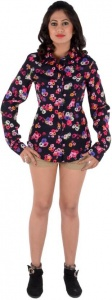 S9 Women's Printed Casual Black, Pink, White, Blue Shirt_S9-W-FS-1503A