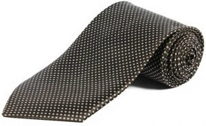 Uni Carress Polka Print Men's Tie (Brown) RA-TY-104B