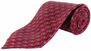 Uni Carress Geometric Print Men's Tie (Red) RA-TY-105C