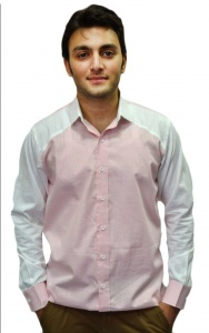 S9 Men Solid Casual Shirt For Men (Pink & White) S9-FS-253A