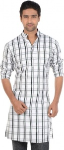 S9 MEN Checkered Men's A-line Kurta (Multicolor) S9-MK-602A