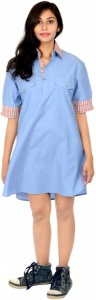 S9 Fashion Women's Shirt Light Blue Dress_S9-W-DD-213_Blue