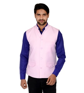 ForgeKo Light Pink Nehru Jacket