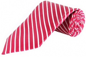 Uni Carress Striped Men's Tie (Red) RA-TY-101B