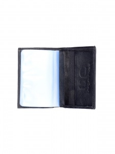 Uni Carress- 6 Card Slots Casual & Formal Black Artificial Leather Wallet For Men (Black) UC-MW-022