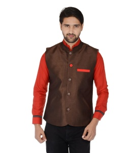 ForgeKo Nawaabi Brown Nehru Jacket