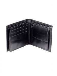 Uni Carress- 6 Card Slots Casual & Formal Black Artificial Leather Wallet For Men (Black) UC-MW-10
