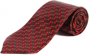 Uni Carress Geometric Print Men's Tie (Red) RA-TY-105B
