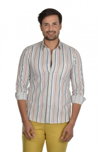 S9 Men Stripe Semi Formal Casual Shirt For Men  -S9-FS-ECO 1