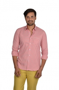 S9 Men Checks Semi Formal Casual Shirt For Men  S9-FS-ECO-2B
