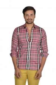 S9 Men Checks Semi Formal Casual Shirt For Men  S9-FS-ECO-3A
