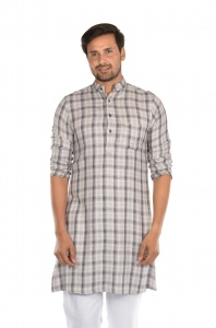 S9 Men High Summer cotton checks Kurta