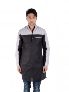S9 Men Designer 2 cut Black & Grey  S9-Mk-206A
