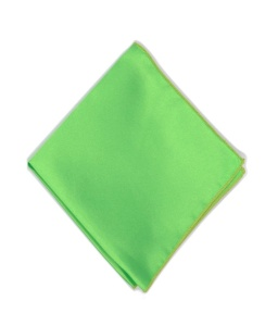 Uni Carress Men Microfibre- Poyester Pocket Square (Green) RA-PS-102