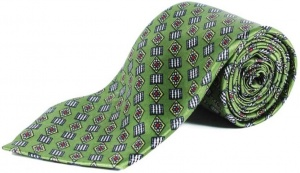 Uni Carress Geometric Print Men's Tie (Green) RA-TY-103B