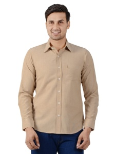 S9 Men Solid Formal Shirt For Men (Mist Beige) S9-FS-250C