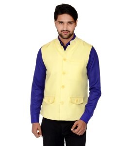 Forge'ko Economical Self Design Men's Yellow Jacket