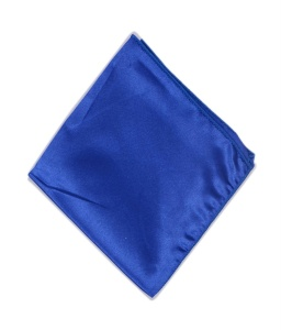 Uni Carress Men Microfibre- Poyester Blue Color Pocket Square (Blue) RA-PS-104