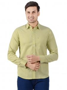 S9 Men Solid Formal Shirt For Men (Husky Green) S9-FS-250D