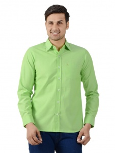 S9 Men Solid Formal Shirt For Men (Green) S9-FS-250B