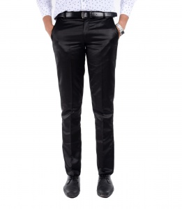 S9 Men Black Formal Trouser
