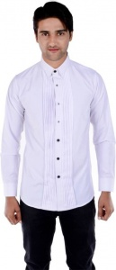 S9 Men's Solid Formal White Shirt S9-FS-206