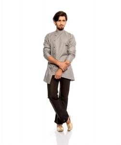 S9 Men Nawaabi Grey Colored Kurta Pyjama Set