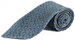 Uni Carress Geometric Print Men's Tie (Greyish blue) RA-TY-103D
