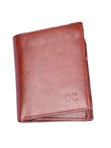 Uni Carress- 6 Card Slots Casual & Formal Tan Artificial Leather Wallet For Men(Tan) UC-MW-020