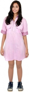 S9 Fashion Women's Shirt Pink Dress_S9-W-DD-209_Pink