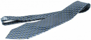 Uni Carress Geometric Print Men's Tie (Blue) RA-TY-105D