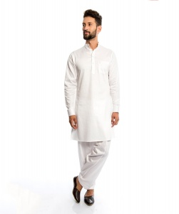S9 MEN Pathani Kurta Long with Patiala Salwaar In Cotton Silky