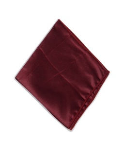 Uni Carress Men Microfibre- Poyester Maroon Color Pocket Square (Maroon) RA-PS-118