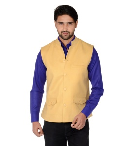 ForgeKo Mango Yellow Nehru Jacket