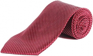 Uni Carress Polka Print Men's Tie  (Red) RA-TY-104C