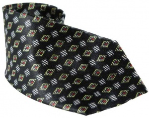 Uni Carress Geometric Print Men's Tie (Black) RA-TY-103