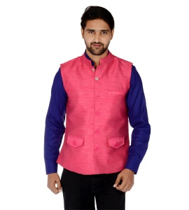ForgeKo Dark Pink Nehru Jacket