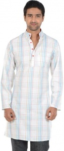 S9 MEN Checkered Men's A-line Kurta  (Multicolor) S9-MK-602D