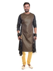 S9 Men Indo Western Kurta Pajama Set with Scarf