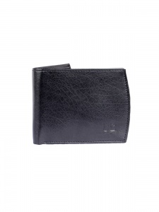 Uni Carress- 6 Card Slots Casual & Formal Black Artificial Leather Wallet For Men (Black) UC-MW-014