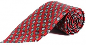 Uni Carress Geometric Print Men's Tie (Red) RA-TY-103C