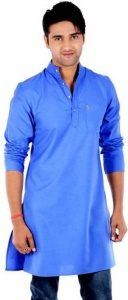 S9 Men Solid Men Straight Kurta (Blue) S9-MK-201A