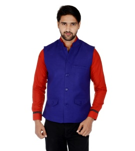 ForgeKo Dark Blue Nehru Jacket