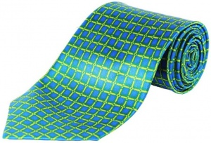 Uni Carress Printed Men's Tie (Blue) RA-TY-102