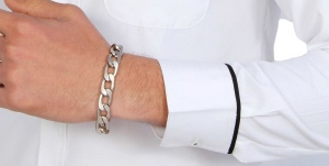 Uni Carress laminated double steel coated Silver Golden Unisex Bracelet UC-BRACE-OXIDIZED PLATED 03B
