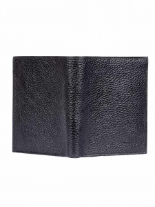 Uni Carress- 6 Card Slots Casual & Formal Black Artificial Leather Wallet For Men (Black) UC-MW-013