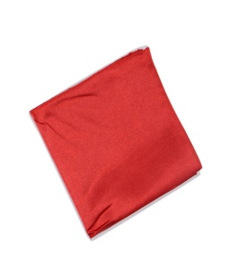 Uni Carress Men Microfibre- Poyester Red Color Pocket Square (Red) RA-PS-110
